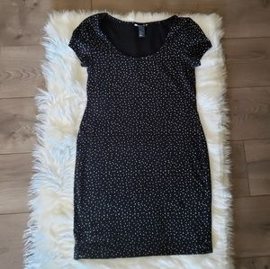 H&M fitted mini dress,  Size M